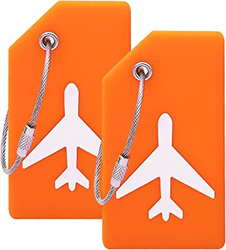 Amazon.com: Etiqueta de equipaje de silicona con tarjeta de ...