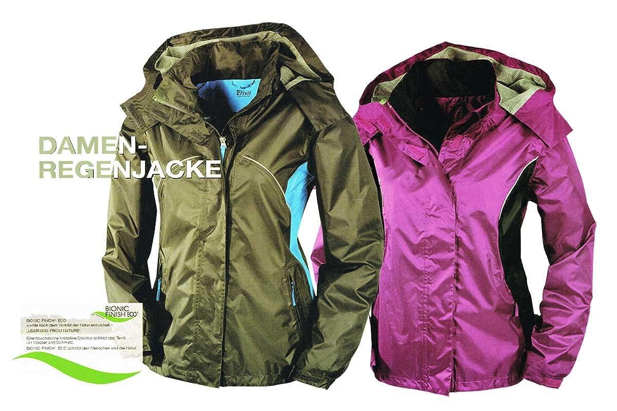 Crivit Outdoor Women s Raincoat Purple Purple Medium - Grey - Small   Amazon.co.uk  Clothing c534cc2a2