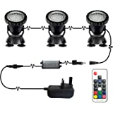 With 5.5FT Cord MULANG 54W Underwater LED Lamp Pool LED SPA Light RGB Waterproof IP68 Multi-Colors Remote Control for Spring//Outdoor Swimming Pool//Aquarium//Spa Lighting Decoration