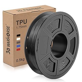 Filamento TPU da 1,75 mm filamento per stampante 3D 10 Giallo basso odore flessibile 1 kg E-DA adatto per la maggior parte delle stampanti 3D