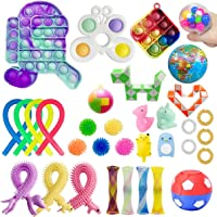 34 Pack Sensory Fidget Toys Pack Autism Special Sensory Pop Pop Toys Sets for Kids Boys Girls Stress Relief and Anti…