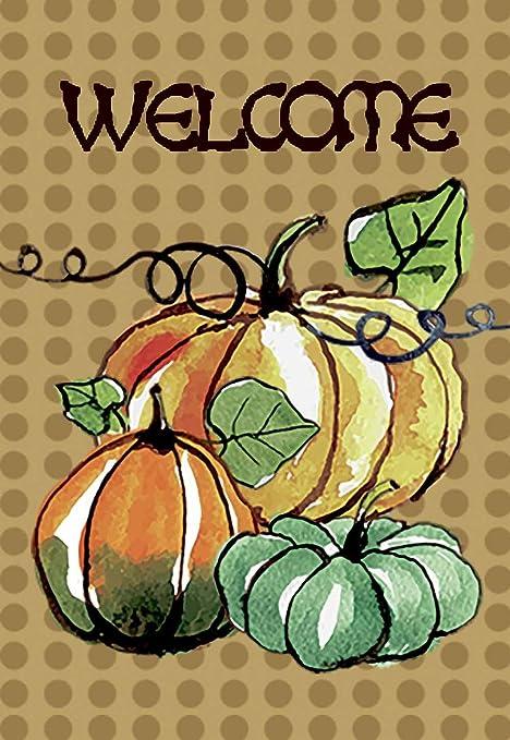 Morigins Welcome Fall Pumpkin Decor Autumn Blessings Double Sided Garden Flag