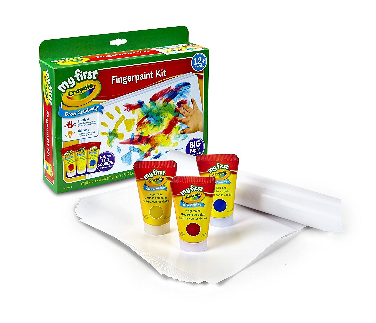 amazon com crayola my first fingerpaint kit washable paint gifts