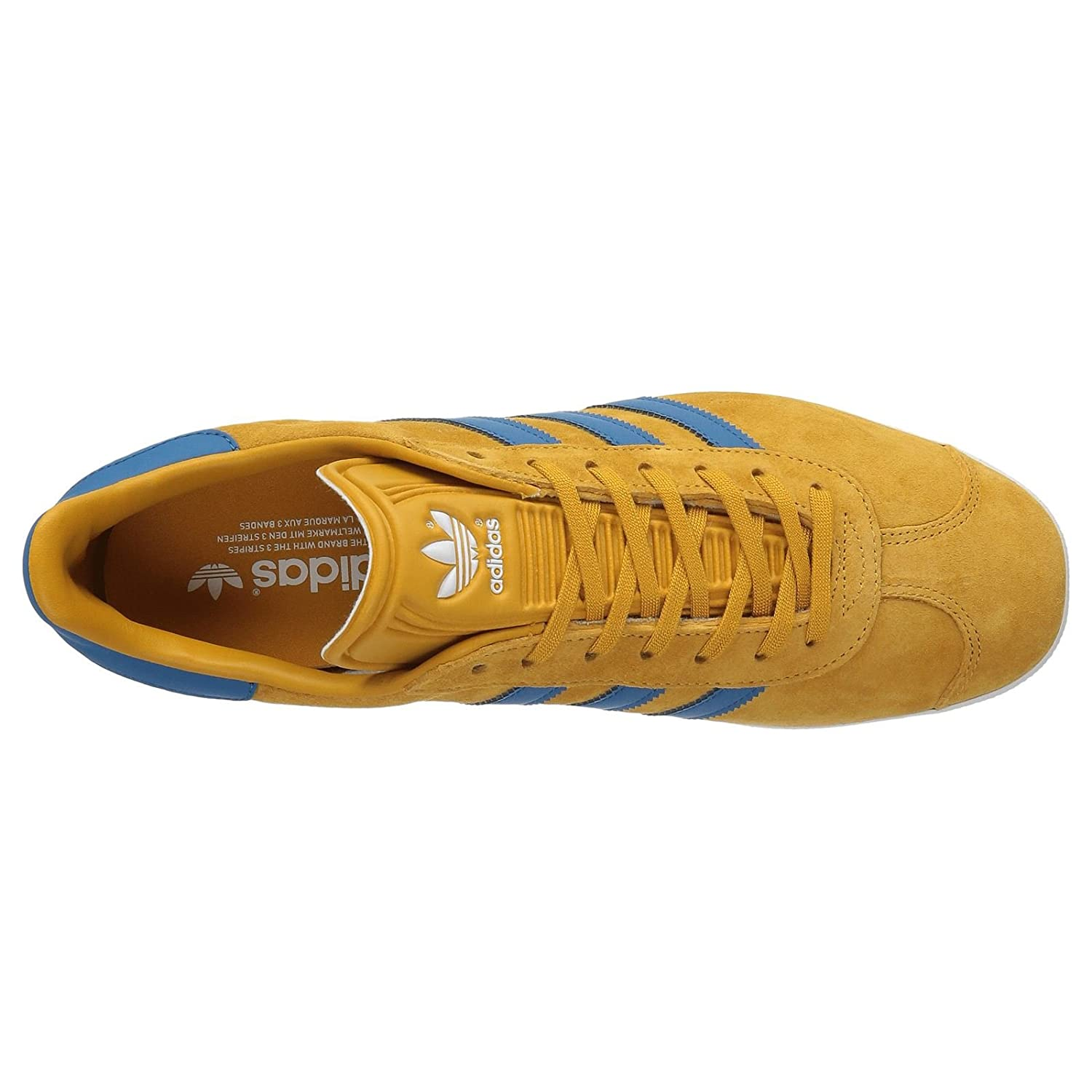 Mens Gazelle Core 40 Nomad Trainers Adidas Yellow Blue Suede