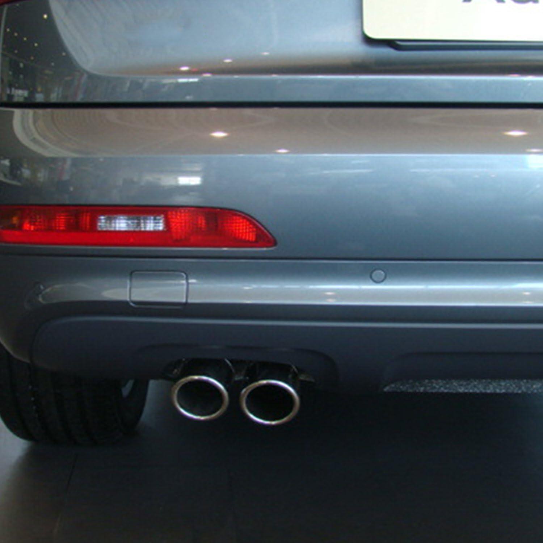 CICMOD Auto Tubo di Scappamento in Acciaio Inossidabile Argento per Audi Q3 2013-2015 un paio