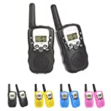 Kids Walkie Talkies Radio 3KM Range 8 Channels Battery Operated Handset with Indicator and Belt Clip for Children Outdoor Camping Hiking 2 PCS (Batteries Not Included )