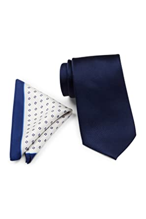 690063326c Tommy Hilfiger Men s Solid Silk Tie   Micro Neat Pocket Square Boxed Set
