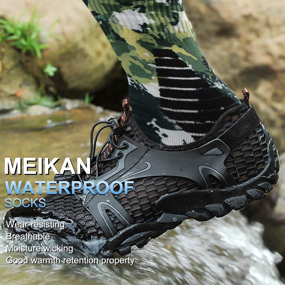 MeiKan 100/% Waterproof Socks Unisex Breathable Hiking Trekking Ski Wading Socks MK1101A