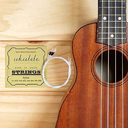Glory.D - Juego de 4 cuerdas para guitarra, nailon, cuerdas para ...