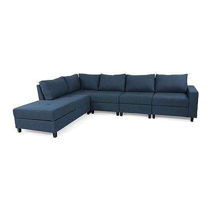 Amazon.com: Kama Chaise Sectional Sofa Set, 5-Seater, Hidden ...
