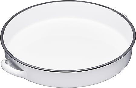 Kitchencraft Living Nostalgia Deep Enamel Serving Tray Whitegrey 36 Cm 14 Inch
