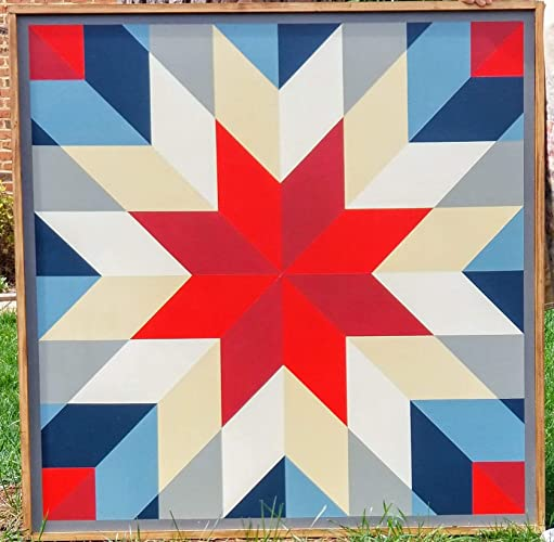 picture relating to Printable Barn Quilt Patterns called Capturing Star Barn Quilt