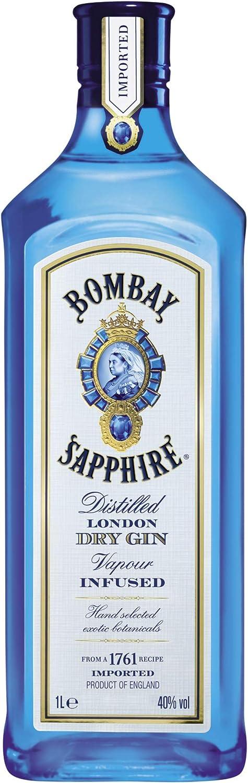 Bombay sapphire london dry gin, infuso con 10 erbe aromatiche raccolte a mano 1L 101547574