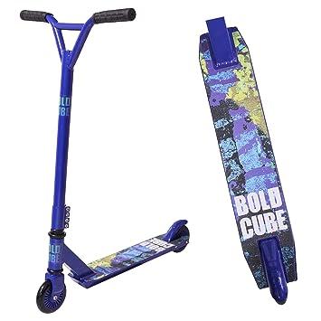 BOLDCUBE Patinetes de Acrobacias - Freestyle Pro Truco de 360 Grados - Stuntscooter para Adultos y niños (Azul)