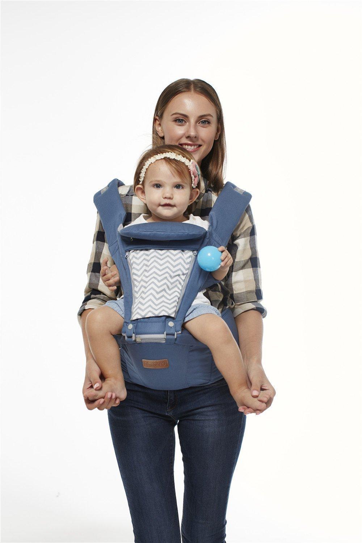 Boyovo Porte-bébé siège de hanche, sac à dos, écharpe 6en 1pour toutes les saisons sac à dos BOYUAN BY1711B