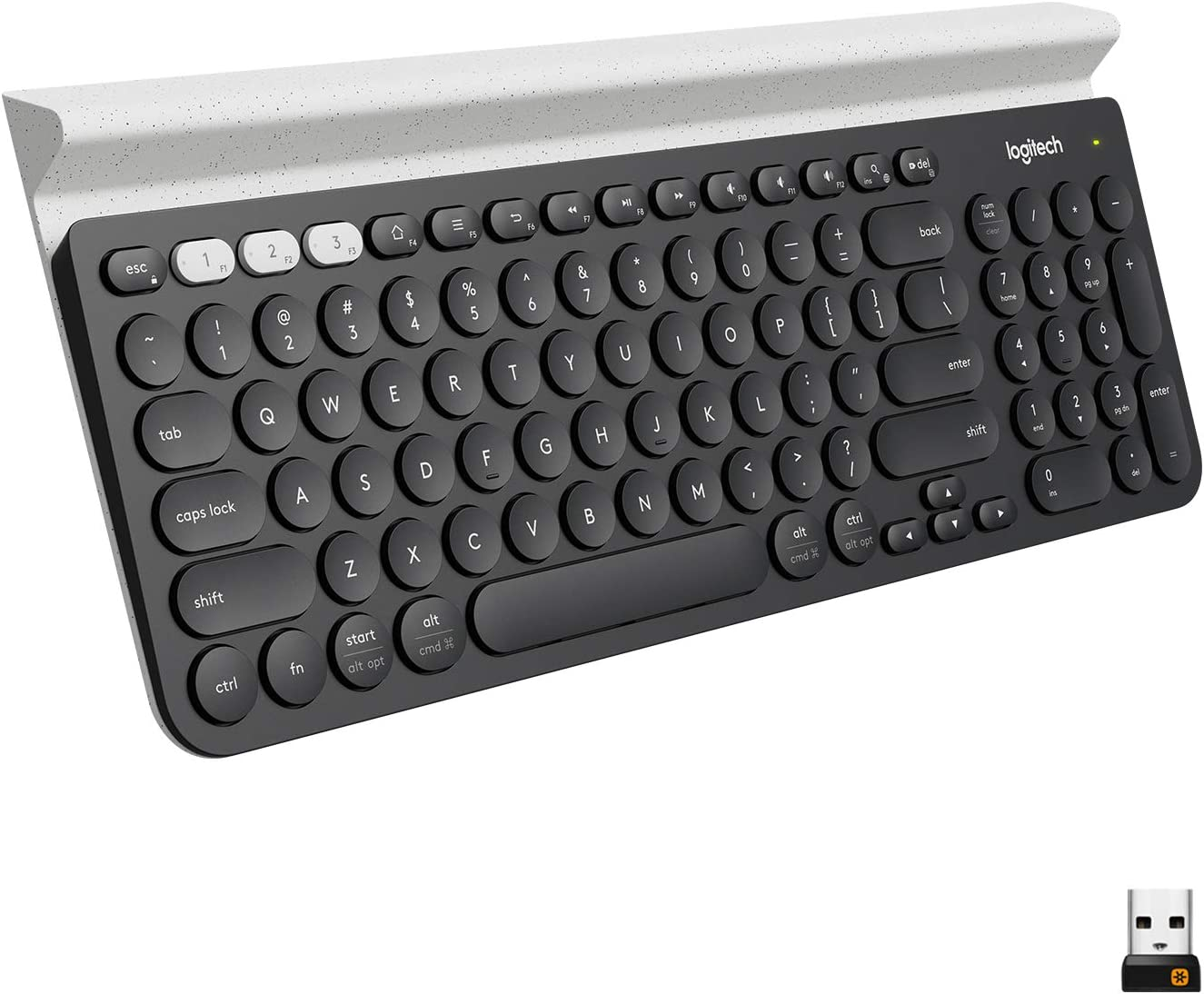 Logitech K780 Multi-Device Wireless Keyboard for Computer, Phone and Tablet – Logitech FLOW Cross-Computer Control Compatible: Computers & Accessories