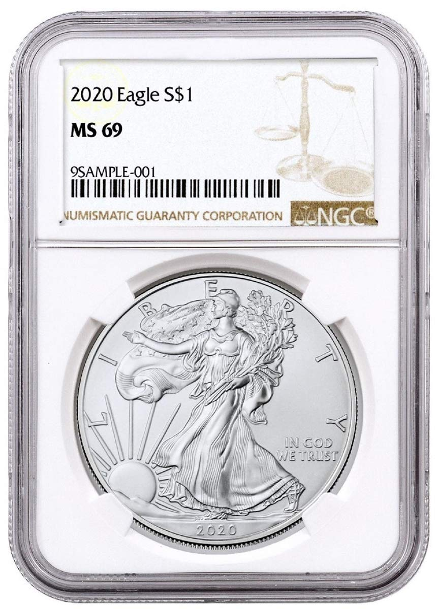 2019 $1 American Silver Eagle NGC MS70 Brown Label