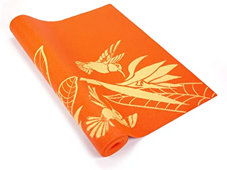 Orange Wai Lana Yogi Plumeria Mat