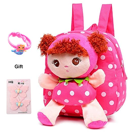 145cce9777 Little-Sweet Cute Kids Toddler Backpack Plush Toy Backpack Snack Travel Bag  Pre-School