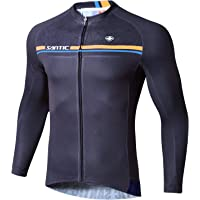SANTIC Maillot Bicicleta Hombre Manga Larga MTB,Maillot Ciclismo Hombre Otoño/Invierno