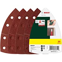 Bosch 25-Piece Sanding Sheet Set For Multi-Sanders 102mm, 40, 80, 120 and 180 Grit