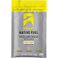 Ascent Native Fuel Micellar Casein Protein Powder - Vanilla - 15 Single Serve Packets