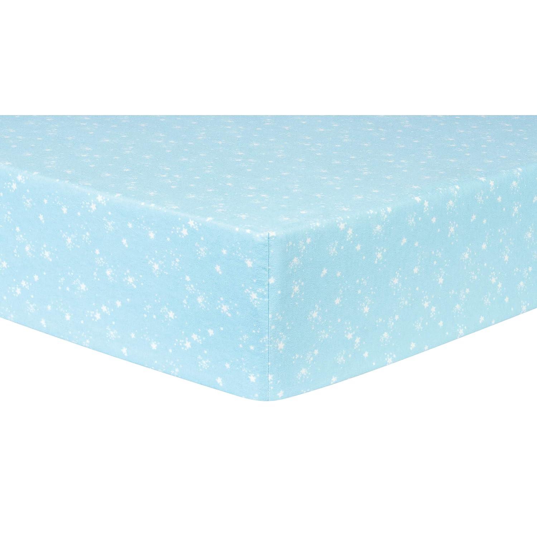 Trend Lab Navy Flannel Crib Sheet Blue