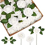InnoGear Artificial Flowers, 50 Pcs Faux Flowers Fake Flowers White Roses Perfect for DIY Wedding Bouquets Centerpieces…