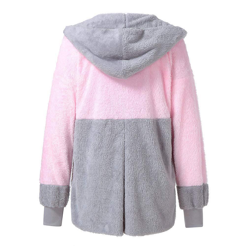 Briskorry Warme Winterjacke Damen Mode Elegant Wintermantel Winterparka Frauen Kunstfell Mantel Pelz-Mantel Fleecejacke Teddyjacke Mantel Outwear