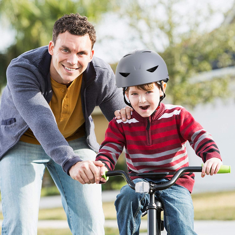 ValueTalks Casco Protezione Pattini Ideale per Bambini e Adolescenti per Pattini a Rotella,Skateboard Bicicletta 6-15 Anni Hoverboard e Altri Sport Estremi