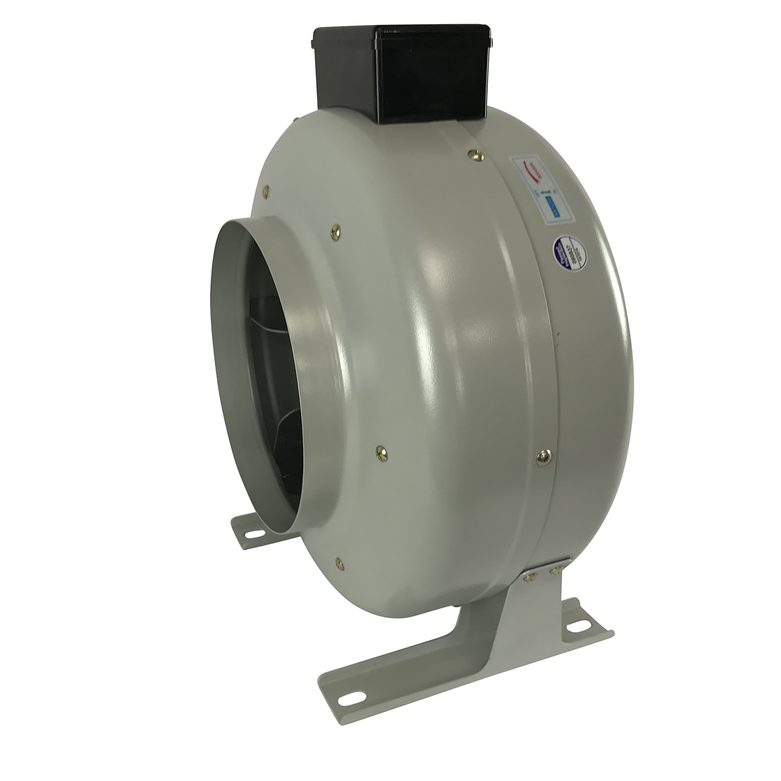 AmeriFan AIF8 Duct Booster Exhaust Fan, 720 CFM, 8'', for Growing, Hydroponics, Heating, Cooling, Venting, HVAC, Steel, 120V Supply Voltage