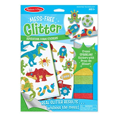 Melissa & Doug Mess-Free Glitter Craft Kit: Adventure (Great Gift for Girls and Boys - Best for 5, 6, 7, 8, 9 Year Olds and Up): Melissa & Doug: Toys & Games [5Bkhe0400262]