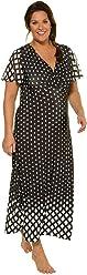 Ulla Popken Femme Grandes Tailles | Femme Longue Robe de Noël Robe de Cocktail Taille Haute Robe De Bohême sans Manches Robe | 714856