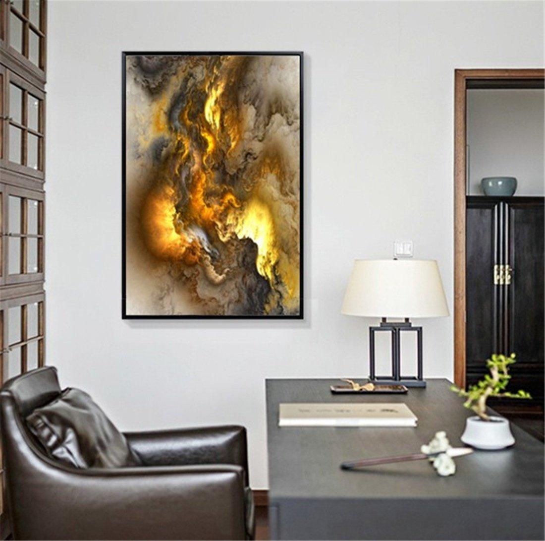 MIWENNebula Moderno Corredor Vertical Pintura Abstracta Mural Sala de Estar Pintura Decorativa Pintura Decorativa Dormitorio Restaurante Pinturas (75  50cm)