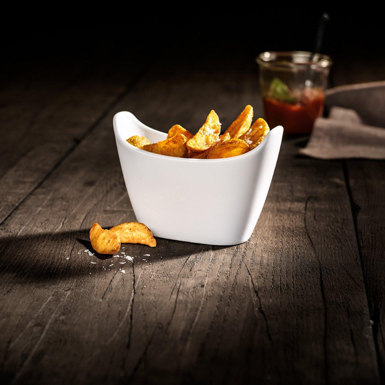 Villeroy /& Boch BBQ Passion Kartoffel Bol Set Mikrowellensicher 13,4x7x9,3cm F/ür 2 Personen Edles Geschirr in Wei/ß aus Porzellan