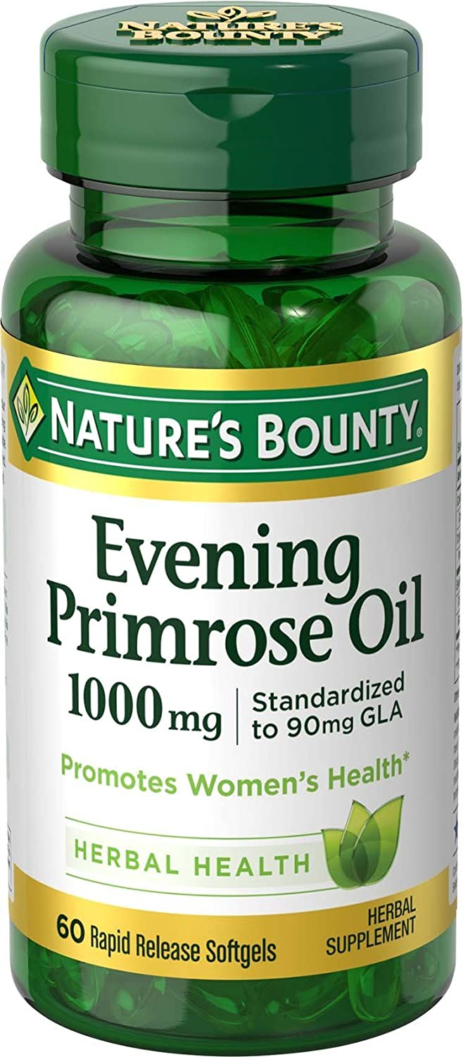 Nature's Bounty Primrose Oil Pills, 1000mg 60Ct: Health & Personal Care