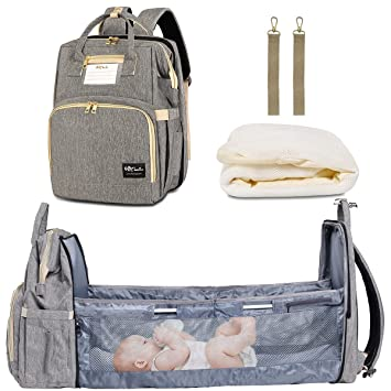 Multi-Function Baby Nappy Diaper Bags with Insulated Pocket Changing Bag Car