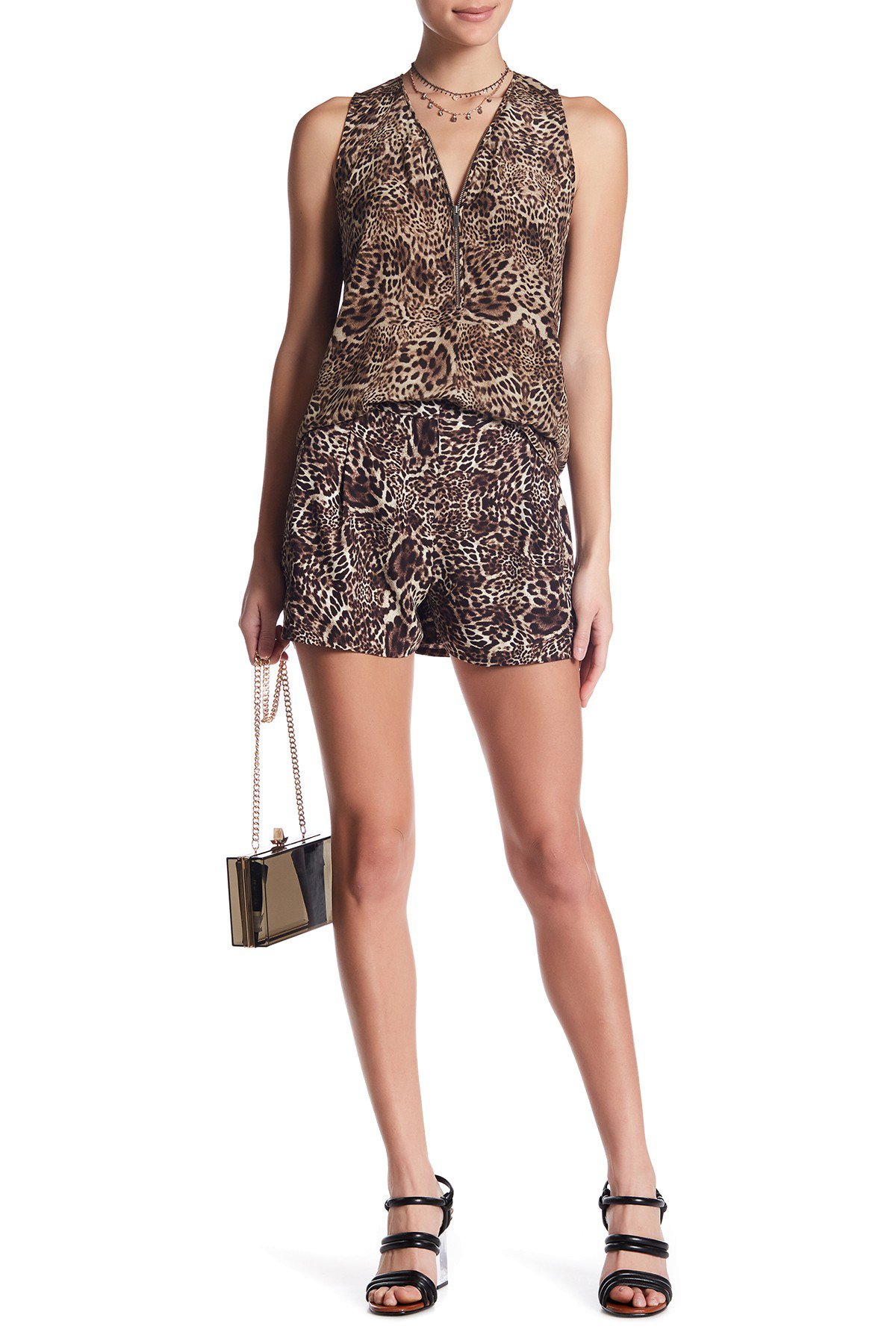 The Kooples Printed Short For Women In Leopard Print, XSmall