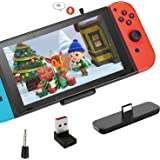 Gulikit Bluetooth Adapter for Nintendo Switch/Switch Lite/PS4/PS5/PC, Mic Supports in-Game Voice Chat, Wireless Audio Transmi