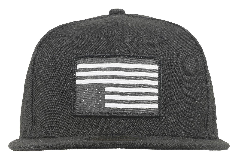 premium selection e9e84 982da Amazon.com  Black Scale Rebel Flag Patch Fitted Hat New Era 59Fifty Mens  BLVCK SCVLE 7 3 8  Clothing