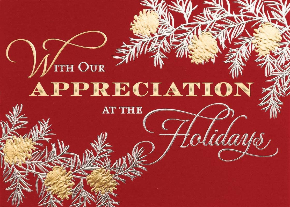 $2.05 each 100 Quantity Promotional Product//Bulk // WITH YOUR CUSTOMIZED BRANDING Holiday Appreciation Card