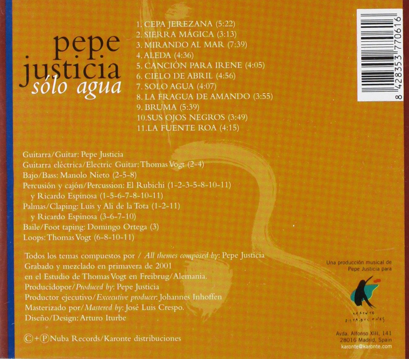 Pepe Justicia - Sólo Agua - Amazon.com Music