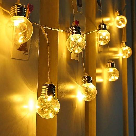 LE Guirnalda de Luces LED, 6m 25 Bombillas, Bajo Consumo, Luz ...