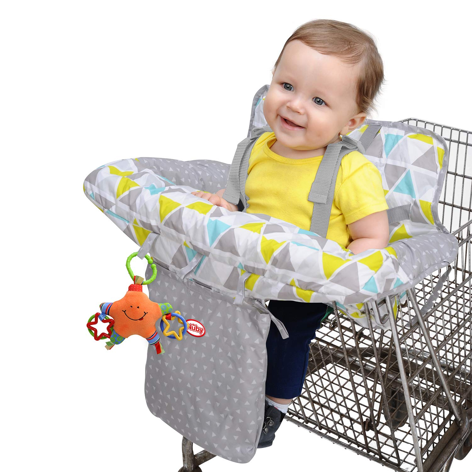 Baby Shopping Supermarket Trolley Cart Cover Seat Kids Chair W// Safety Harness