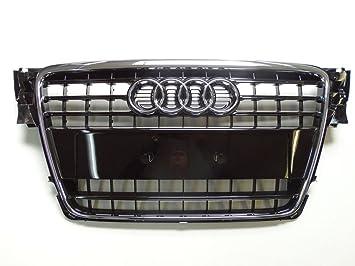 Original Audi A4 8 K B8 enfriador parrilla frontal para Negro Brillante: Amazon.es: Coche y moto