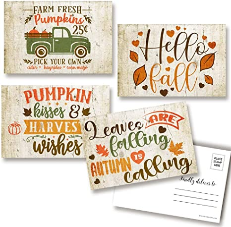 Flowers Postcard Plans these Card Print on Natural Paper Save the bees Autumn Autumn Autumn Card