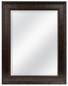 MCS 15.5x21.5 Inch Wall Mirror, 21.5x27.5 Inch Overall Size, Antique Bronze (20676)