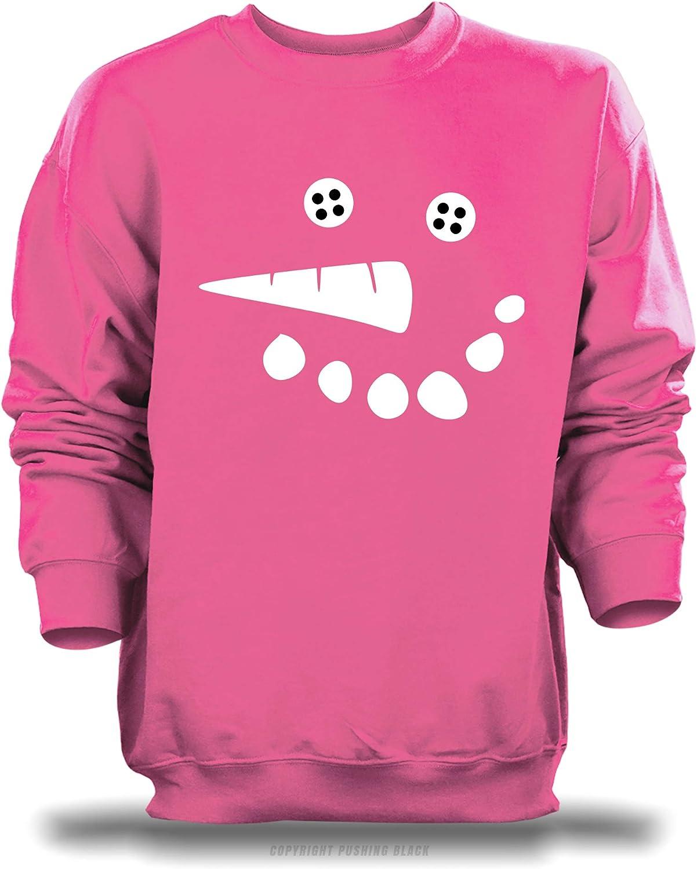 Smiling Snowman with Button Eyes Unisex Sweatshirt