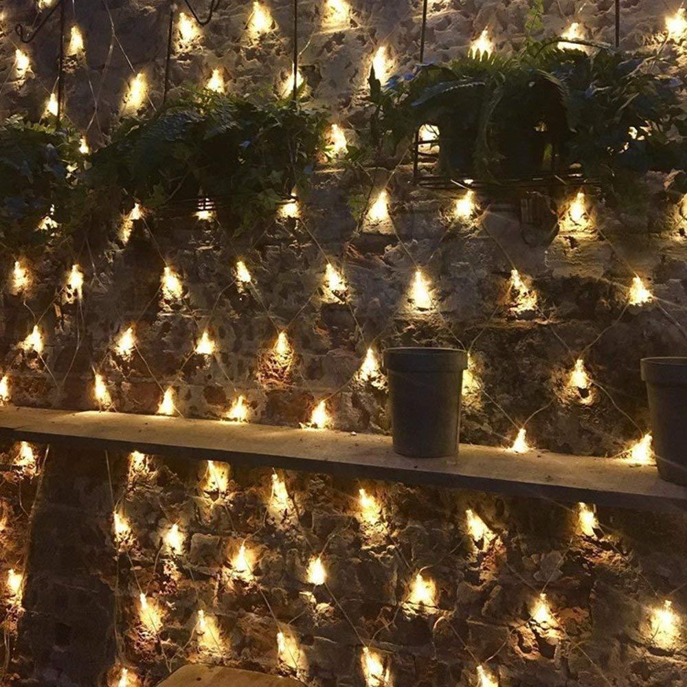 240LED, Timer 100//160//240//320er LED Lichternetz Lichtervorhang Lichterkette Warmwei/ß Deko Leuchte Innen und Au/ßen Weihnachten Hochzeit mit Stecker gresonic