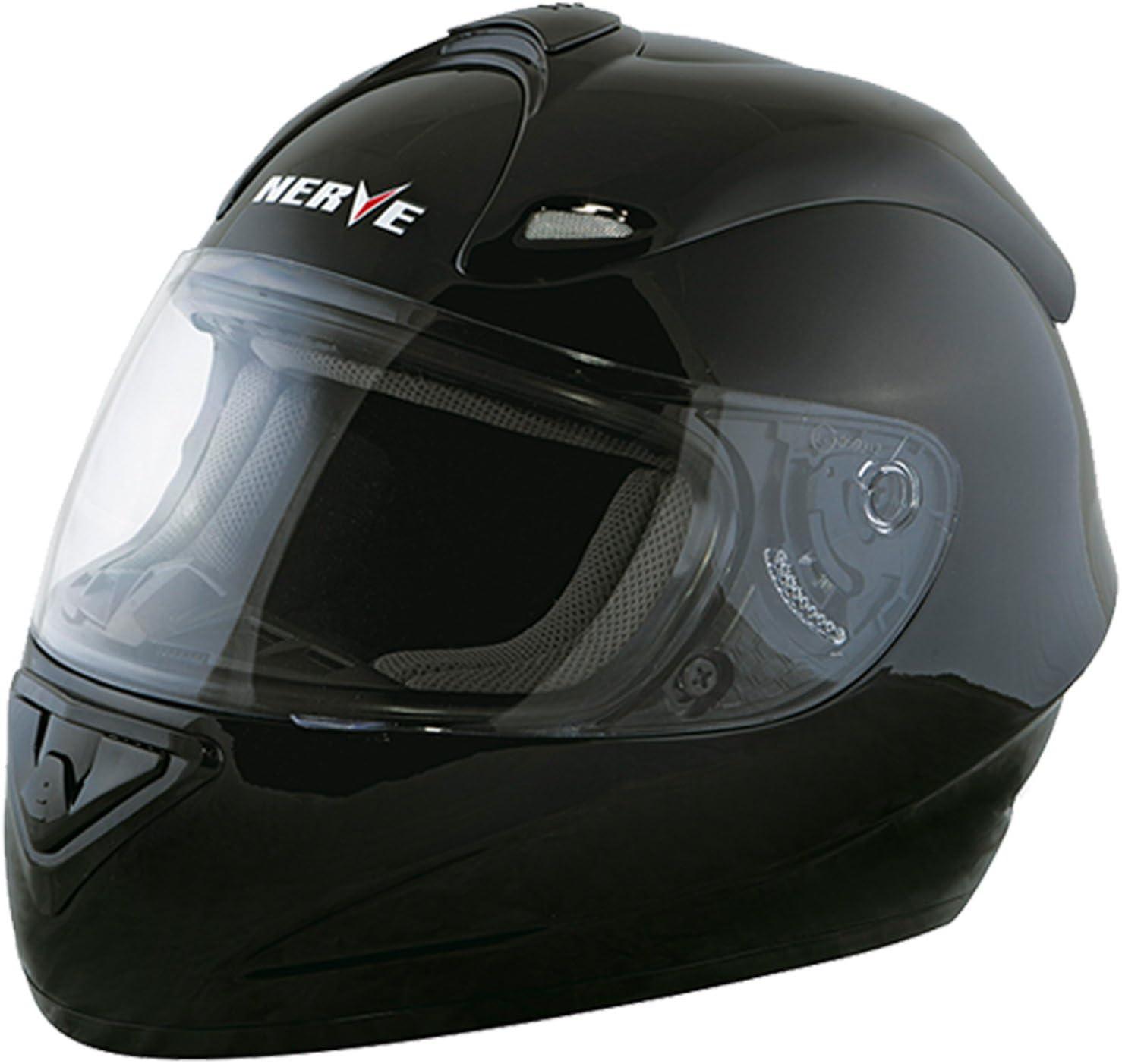 schwarz-blau Nerve Shop Motorradhelm Integralhelm NS2013 Vollvisierhelm Fullface Motorrad Helm Mofa Motorroller Damen Herren Erwachsene XL